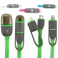 China Retractable 2 In 1 Universal Cell Phone Usb Cable Sync Data Charging on sale
