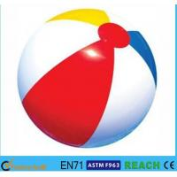 China Rainbow Inflatable Beach Ball 6 Panels Type Phthalate Free PVC Vinyl Material on sale