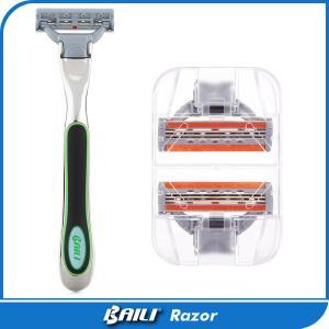 Quality Shaver Triple Blade Razor Metal Handle 3 Blade Manual Safety Shaving For Men for sale