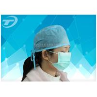 Buy cheap Blue Disposable Nonwoven Doctor Cap/Caps With Tie On Or Elastic  61*14cm from wholesalers