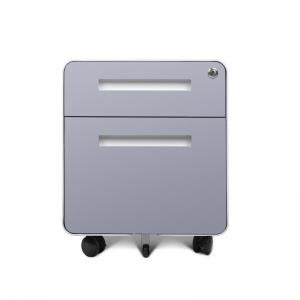 Quality Office Furniture Equipment 2 Drawers Steel Mobile Pedestal Metal Movable Cabinet for sale