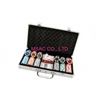 Quality 300 Pcs Aluminum Chip Case / Counter Carrying Cases Size L389 X W200 X H69mm for sale