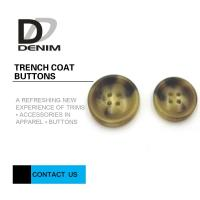 China Big Size Bright Color Bulk Trench Plastic Horn Coat Buttons High Wear Resistance With Sewing Hole on sale
