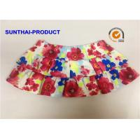Quality Elastic Waistband Little Girl Summer Dresses 2 Layers Ruffle Skirt With Panty for sale