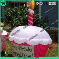 Quality Advertising Inflatable Cup Cake Replica/Promotional Cup Cake Model for sale