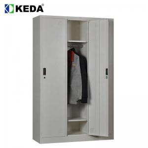 Quality 1200mm Wide 0.194 CBM Metal Wardrobe Cabinet for sale