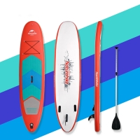 Quality Red Double PVC 11 Feet 305*76*15cm Mens Paddle Board for sale