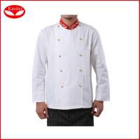 Quality 100% cotton kitchen suits chef jackets and pants for men , Europe size for sale