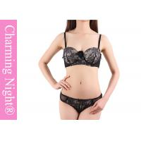 Young Girls Sexy Ladies Bra Sets , custom black lace underwear and bras