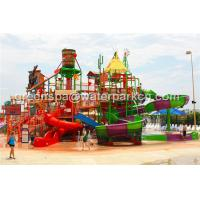 Quality Giant Aqua Park / Water Park Slides Integrated Amusement Ride With N Slide for sale