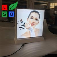 Quality Double Side Desktop Light Box Picture Frame , LED Fabric Light Box Longlife for sale