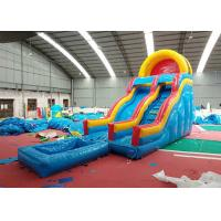 China Strong Blow Up Bouncy Water Slide , Bouncy Castle Slide Pool Wind - Resistant on sale