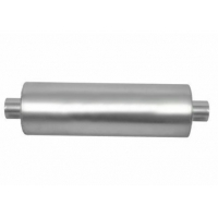 Quality Performance Exhaust 2.50 Inch Center / Center Round Race Muffler for sale