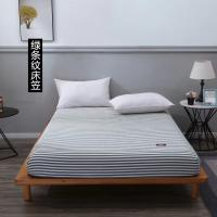 Buy 100% Cotton Fitted Sheet Soft Simple Stripes Grid hotel bed sheet bedspread at wholesale prices