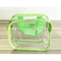 Quality Simple Girl Transparent PVC Cosmetic Bags Clear Vinyl Travel Kit for sale