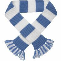 Buy 50cm Winter Wool Free Striped Scarf Knitting Pattern With Embroidery Logo at wholesale prices