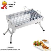 Buy cheap Short leg portable stainless steel Barbecue Grill from wholesalers