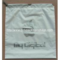 Quality EVA Transparent White LDPE Frosted Small Plastic Drawstring Bags for sale