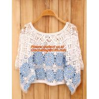 Quality Crocheted Lace Women Shirts For Dress Cover Up Casual Wearing Summer 2015 new Pull over for sale