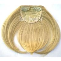 Quality Soft Custom Human Hair Wigs Tangle Free Blond 100% Remy Virgin Hair Fringe Wig for sale