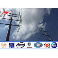 Quality 12M 600daN Steel Utility Pole Gr65 Material for 55KV Power Distribution for sale