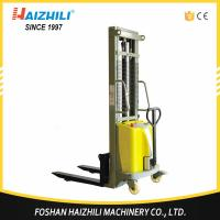 Buy cheap Durable steel 1 ton 2 meter double mast semi electric stacker for sale with CE from wholesalers