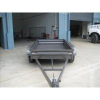 Buy cheap Custom Galvanized 8x5 Tandem Flatbed Trailer With 4000 KG Load Capacity from wholesalers