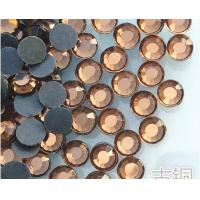 China factory sale bling crystal rhinestone applique hotfix transfer rhinestone brown color on sale