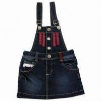 China Children's Denim Condole Braces Skirt, Ideal for Girls, Comfortable to Wear on sale