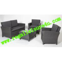 Cheap promotion style outdoor garden synthetic KD rattan sofa furniture set RLF-SH-075