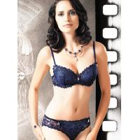 Quality Bamboo Fiber / Spandex / Cotton New Style OEM Embroidered Matching Bra And Underwear Sets for sale