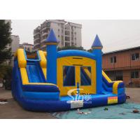 Buy Commercial kids double lane inflatable water combo castle with removable custom banner at wholesale prices