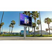 Quality Iron Commercial Outdoor LED Lighting Screen P5mm With 640×960mm Video Panels for sale
