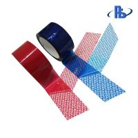 China Water Resistant Security Seal Tape Strong Adhesive PET Tamper Security Tape on sale