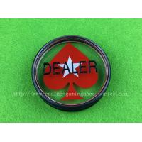 Buy cheap Red Heart Poker Dealer Button Customized Casino All IN Button product