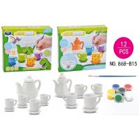 China DIY Tea Set Ceramic Painting Kit Children's Play Toys / Educational Arts And Crafts on sale