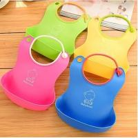 Quality 3D new design monster silicone bib for baby for sale