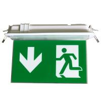 Quality 200LM Ceiling Recessed Indoor Led Battery Operated exit signs with emergency lighting for sale