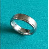 Quality 7mm Dome Cobalt Chrome Double Grooves Wedding Band Ring for sale