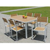 Buy cheap Hot sale imitative wood chair Outdoor Garden furniture sets Coffe table poly from wholesalers