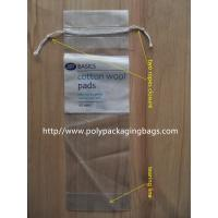 Buy cheap LDPE Clear Plastic Bags With Drawstring For Cotton Swab / Q - tips from wholesalers
