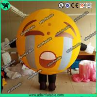 Quality Promotional Inflatable Mascot Costume Crying Face Ball Inflatable Walking Cartoon for sale