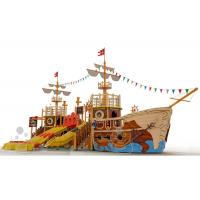 Quality Customized Fiberglass Pool Pirate Ship Amusement Ride Safe And Durable for sale