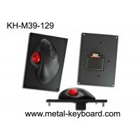Quality 39MM Resin Trackball With Black Metal Mounted Panel , Industrial Computer Mouse for sale