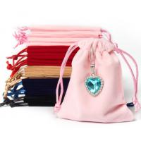 Buy cheap Custom Logo Envelope Faux Suede Jewelry Pouch With Button Closure from wholesalers