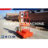 Quality Electric Orange Mast Climbing Work Platforms 10m 100kg 2.2kw for sale
