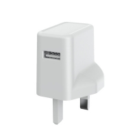 Quality Fireproof PC ErP 5V1A 3 Pin UK Mains Charger With Single USB for sale