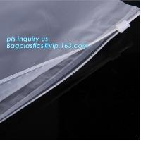 PP Flat Slider Zipper for PP Zipper Bag, Cloth package PE slider zip bag, Apparel Garment Clothing package PE slider zip