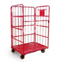 Quality Powder Coated Steel Roll Container Steel Foldable Roll Cage 52.5kg Net Weight for sale
