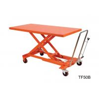 Buy Orange Mechanical Scissor Lift , Hydraulic Table Cart Trolley Scissor Lift at wholesale prices